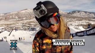 GoPro HD:  Hannah Teter Snowboard Superpipe TV Course Preview – Winter X Games 2012