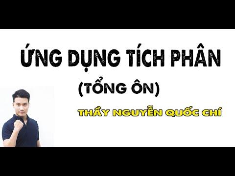 Tổng ôn TÍCH PHÂN (P4) _ Ứng Dụng Tích Phân _ Thầy Nguyễn Quốc Chí