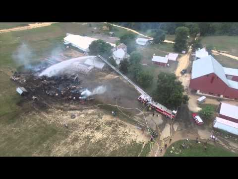 Amish Barn Fire Mechanicsville, MD