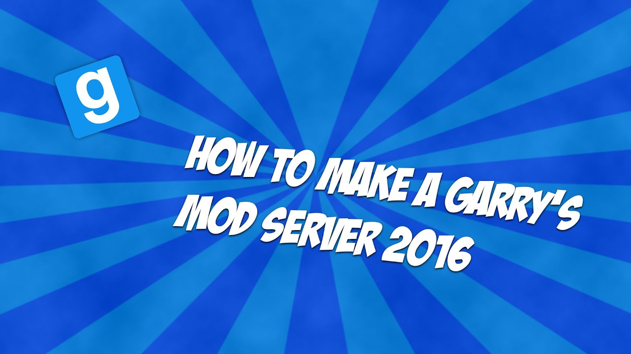 How to create a Garrys mod server 96