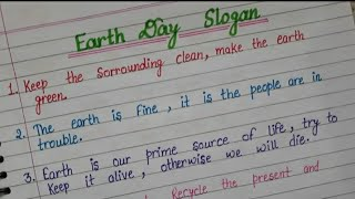 10 Best Slogan On Earth Day In English l Earth Day Slogan l 22nd April l  Calligraphy Creators