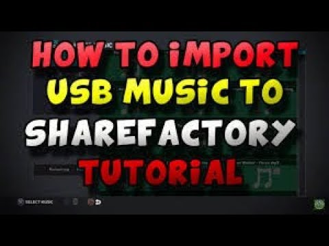 How To Put Your Music Into SHAREfactory