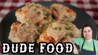 Buttermilk Biscuits With Country Ham Gravy