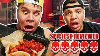 Eating At The SPICIEST Reviewed Restaurant! (SIGNED HOSPITAL WAIVER)  FT. WOLFIE