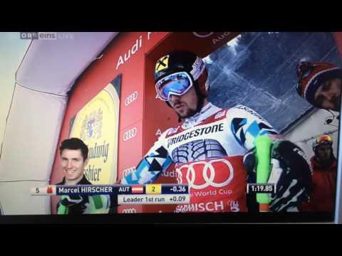 Marcel Hirscher wins RIESENSLALOM with -1,50sec. Garmisch 29.01.2017