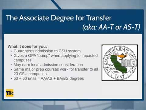 Two Minutes to Transfer: Associates Degree for Transfer