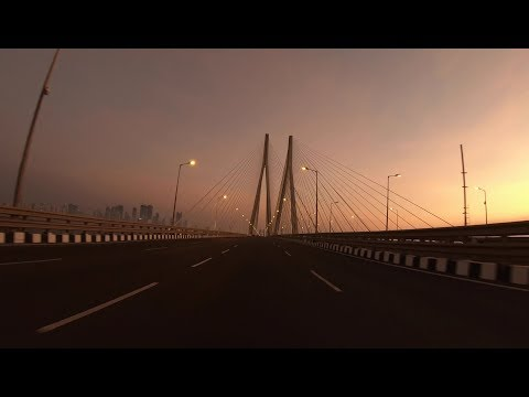 Sunset Drive on Sea Link in 4K | Mumbai's Skyline | Mumbai 2018 | GoPro Hero 6