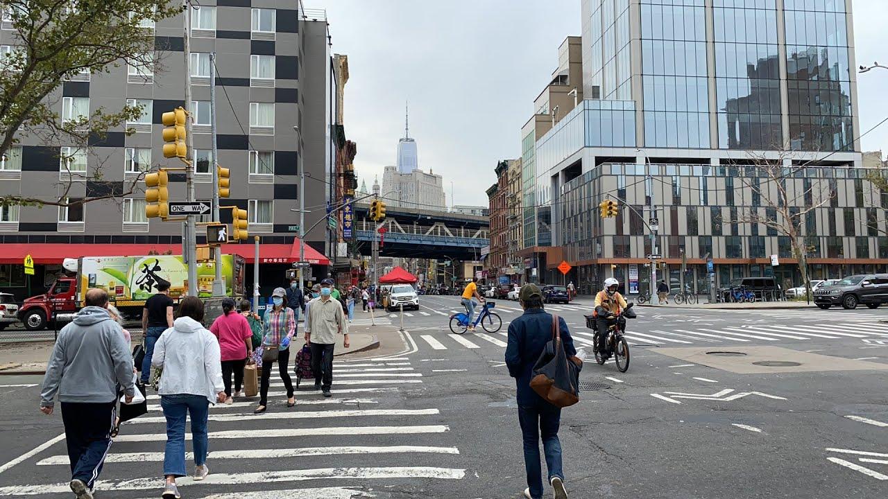 直播9/24 纽约曼哈顿华埠 听说怡东大酒楼要关门去看看 另外看看美国的银行金库是什么样 再看看东百老汇大街的免费餐发放情况Live New York Chinatown