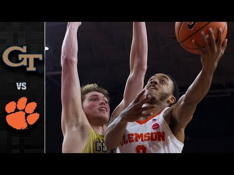 Georgia Tech vs. Clemson Basketball Highlights (2017-18)