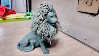 Hairy Lion - 3D Printing