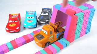 Subin TV : DIY Kinetic Sand How to Make Garade with Cars 3 Learn Colors For Kids