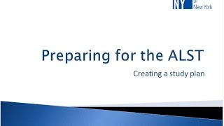 Teacher Ed Webinar: ALST Study Plan
