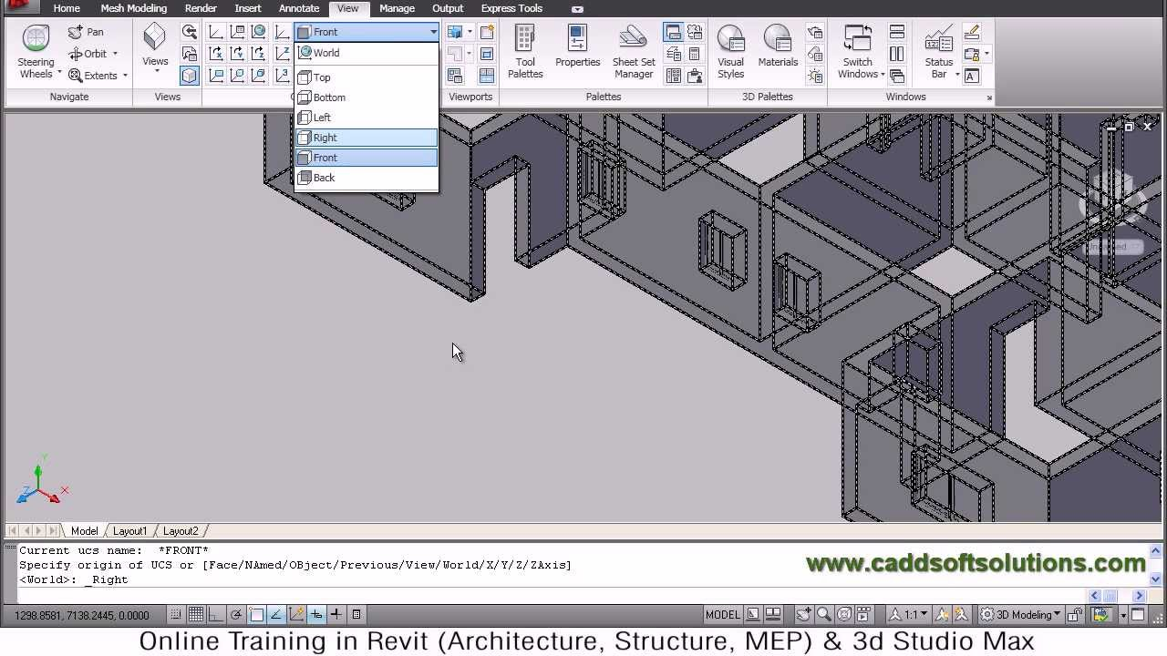 AutoCAD 3D House Modeling Tutorial - 4 | 3D Home | 3D Building | 3D ...