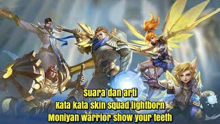 Suara dan arti kata kata squad lightborn~mobile legends