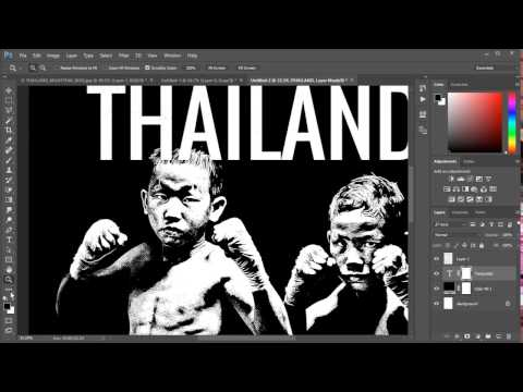 Complete Tutorial turning a photo into a 2 color screen print ready artwork file