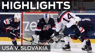 USA stand strong against Slovakia   #IIHFWorlds 2015