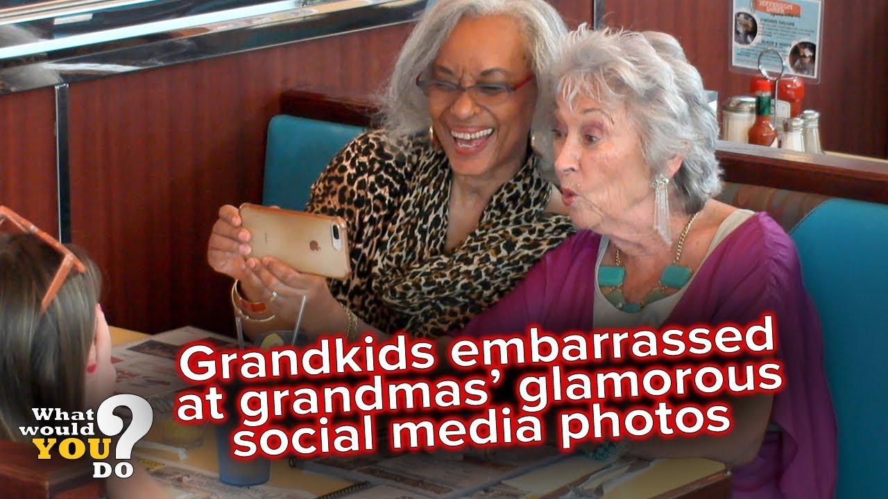 Download Grandkids embarrassed over grandmas' glamorous social media photos | WWYD