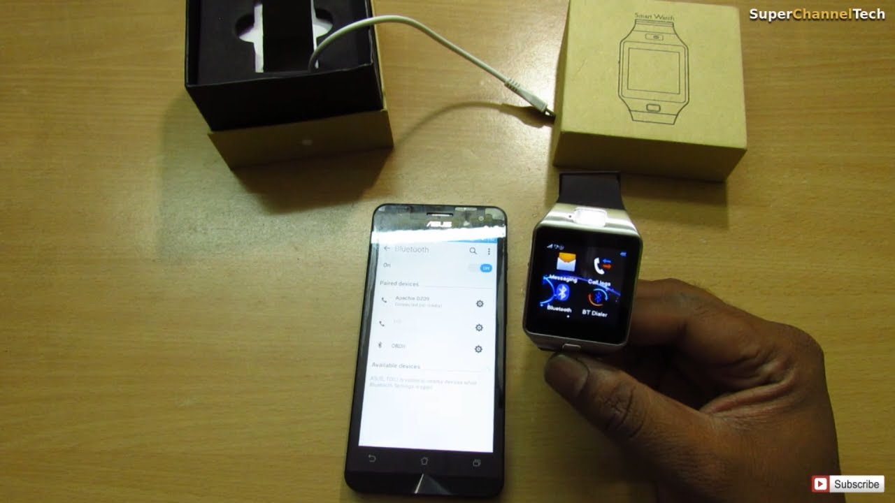 6a43c13b4062d1 How to use DZ09 Smart watch with Android Mobile - YouTube