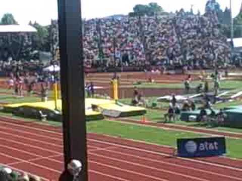 Mike Hazle throwing javelin
