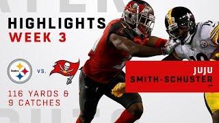 JuJu Smith-Schuster Racks Up 9 Grabs & 116 Yards!