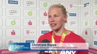 Interview im Deutschen Haus in Rio mit Christiane Reppe
