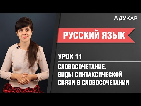 Словосочетание. Виды синтаксической связи в словосочетании  Русский язык