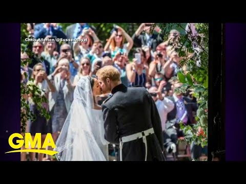 Prince Harry and Meghan share behind-the-scenes wedding photos l GMA