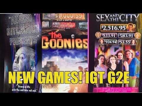 THE GOONIES, SEX & THE CITY, & MORE SLOTS-IGT G2E PREVIEW GAMES
