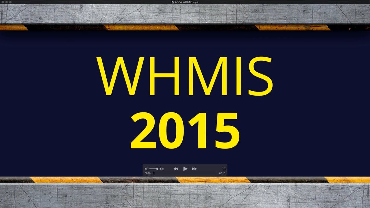 Whmis 2015 Acsa Youtube