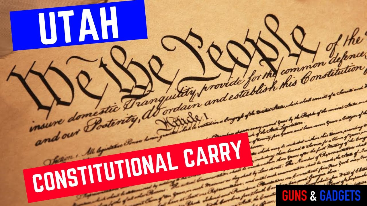 Utah Governor Will Sign Constitutional Carry Into Law!