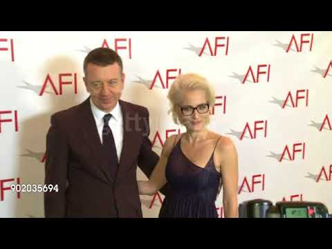 Gillian Anderson & Peter Morgan at the AFI...