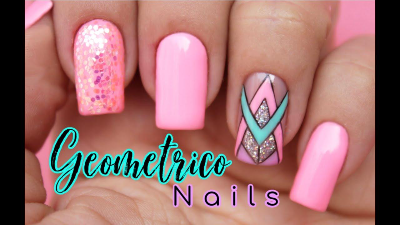 Diseño de uñas geométrico ♥ Deko Uñas - Geometric Nail art