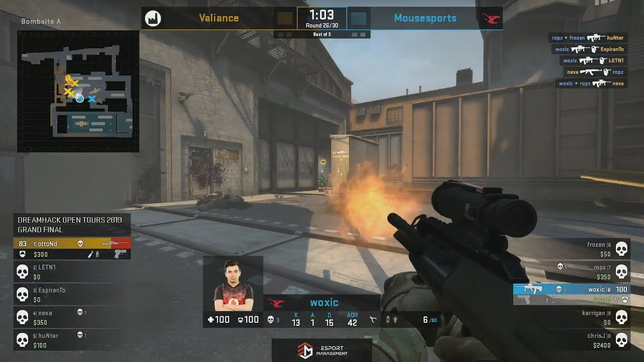 GRAND FINAL - mousesports vs Valiance - DreamHack Open Tours 2019 - CS:GO