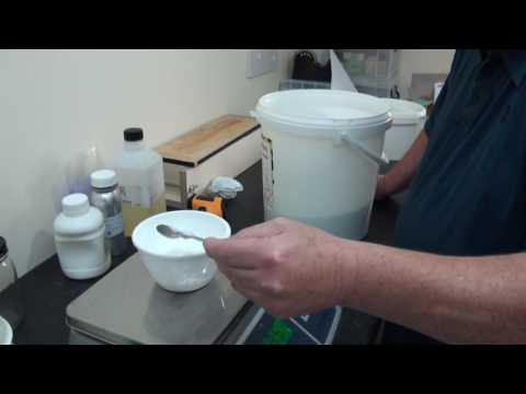 Cold process Handmade soap making, combining the main ingredients and get the soap into a mold