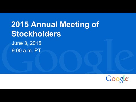 2015 Annual Meeting of Stockholders