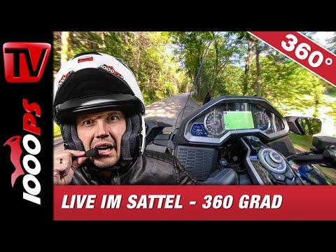 Honda Goldwing - Live im Sattel - 360 Grad Probefahrt