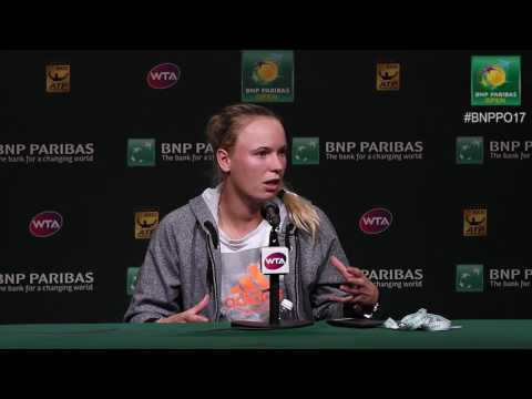BNP Paribas Open 2017: Caroline Wozniacki 2R Press Conference