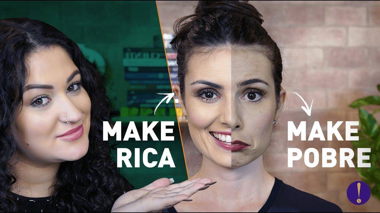 NATHALIA ARCURI - MAKE DE RICA X MAKE DE POBRE com maquiagem de FARMÁCIA! Feat Duda Fernandes Semana