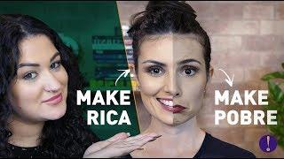 MAKE DE RICA X MAKE DE POBRE com maquiagem de FARMÁCIA! Feat Duda Fernandes Semana da Beleza EP2
