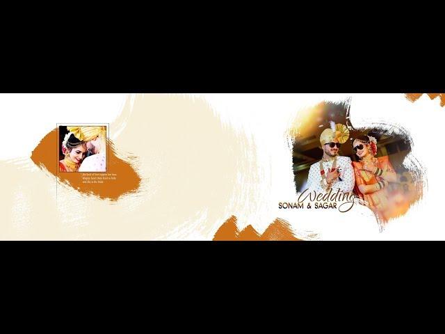 Adobe Photoshop CC Tutorial  - Wedding Album Cover Page