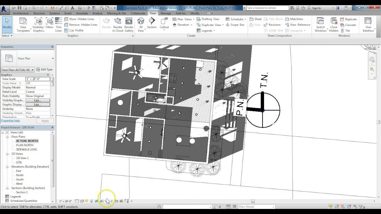SITE PLAN CREATING A SOLAR SUN PATH STUDY YouTube – How To Draw A Site Plan To Scale