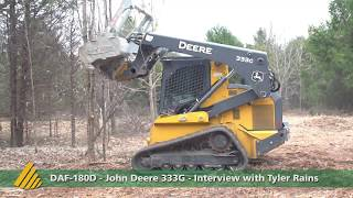 DAF-180D - John Deere 333G INTERVIEW Tyler Rains