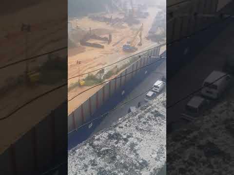 Hujan lebat tanah runtuh depan project MRT| k.l