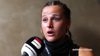 CHANTELLE CAMERON IMMEDIATE REACTION TO TKO VICTORY ON TAYLOR POSTOL UNDERCARD