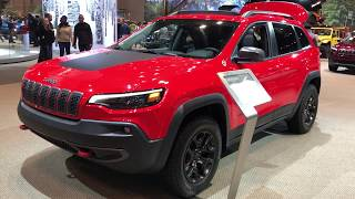ALL NEW 2019 JEEP CHEROKEE WALK AROUND FROM THE 2018 CHICAGO AUTOSHOW TRAILHAWK EDITION