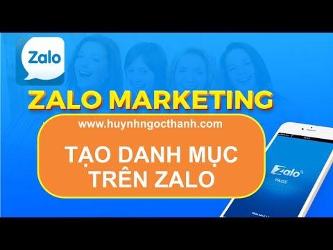 ZALO MARKETING – TẠO DANH MỤC TRÊN ZALO | Huynhngocthanh.com