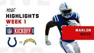 Marlon Mack Runs for 174 Yds & 1 TD | NFL 2019 Highlights