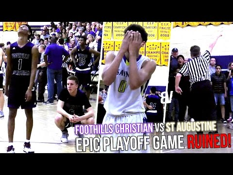 EPIC Playoff Finish RUINED! Coach EJECTED in CHAOTIC Ending! Foothills Christian vs St Augustine