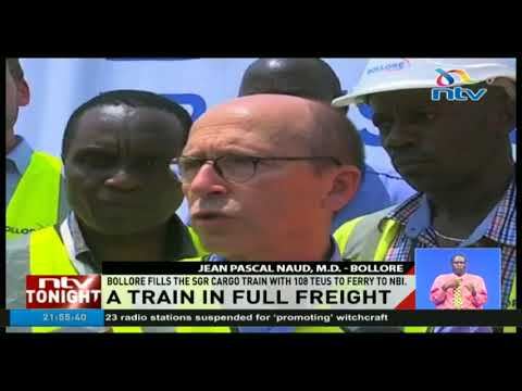 Bollore fills the SGR cargo train with 108 TEUS to ferry to Nairobi