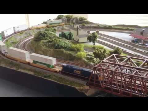 KATO N SCALE UNITRACK LAYOUT BY RG TRAIN LAYOUTS